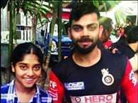 Khushi got to hug her God, Virat Kohli makes a dream come true for a 14 year old fan