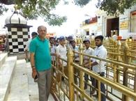 शक्ति स्कूल के स्वयंसेवियों ने संवारा मंदिर