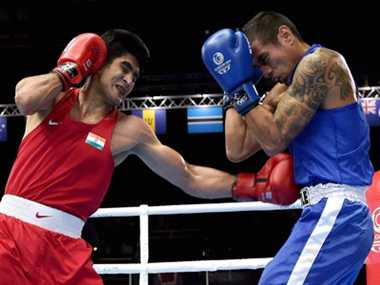Indian boxers Vijender, Devendro and Sumit in quarter finals at CWG 2014