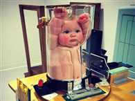 Now that's a test tube baby! Bizarre X-ray machine for babies amuses the internet