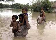 Flood situation in several districts of Rajasthan