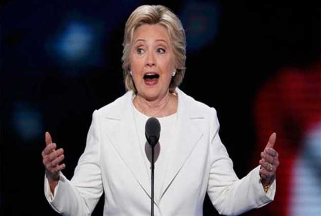 Hillary Clinton accepts her nomination for President of the United States