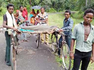 Dead bodies carry six kilometer on bicycle