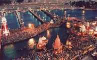 today's first royal bath of Nashik Kumbh