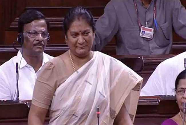 AIADMK ,parliament ,Sasikala Pushpa ,jayalalitha ,case ,Jagran news,अन्नाद्रमुक,शशिकला,राज्यसभा,इस्तीफा