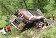 Bus accident near Mandi
