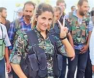 Poster girl for Kurdish freedom fighters in   Kobane 'captured and beheaded by ISIS'