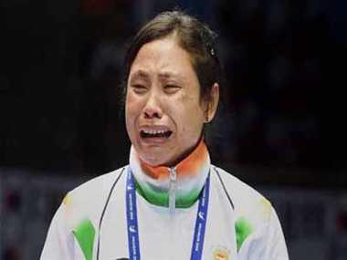 boxer sarita devi was wrong said boxer akhil