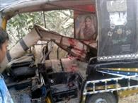 Three injured in auto-bike collision, one dead