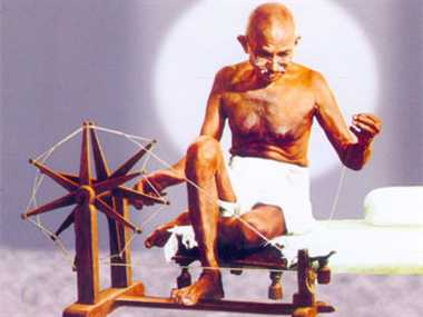 Why did Mahatma Gandhi lay emphasis on spinning yarn