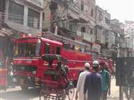 fire in shop in  bandukwali gai ajmeri gate