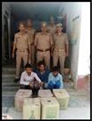 भारी मात्रा में अवैध शराब संग तीन गिरफ्तार