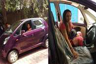 Car Of Hemamalini Hit By Another Car In Mathura