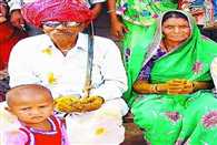 Live in living tribal pair of 80 years married