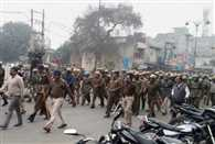 Flag march in rohtak after Jats warning