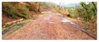 सराहा-चंडीगढ़ सड़क की कोलतार उखड़ी