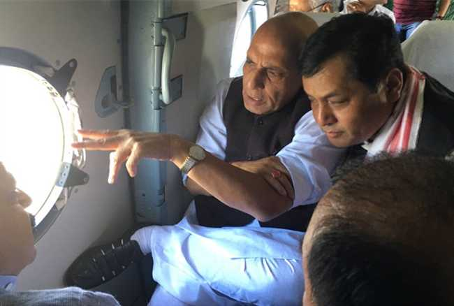 Know Ten facts about Rajnath took stock of  flood situation in Assam