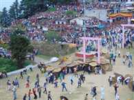 Traditional stone war in Bagwal of Devidhura