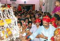 Drew crowds of pilgrims in Mahaarti