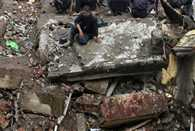 Two storey building collapses due to heavy rain