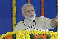 PM Narendra Modi enaugrates first phase of sauni project