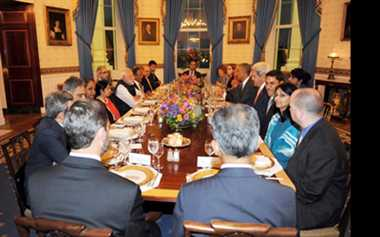 Modi keeps away from exquisite food at dinner with Obama