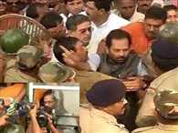 BJP leaders arrested for trying to enter violence-hit village