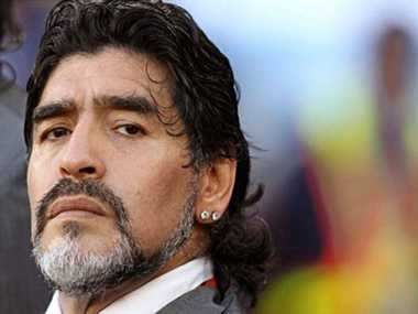 Maradona in controversy once again, beat former fiance