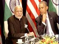 PM Modi meets with American President sidelines of Climate conference in Peris
