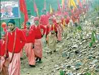 Radharani Brajyatra reached Aadibadri Dham