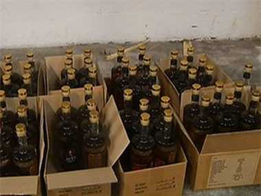 Cases of liquor seized in Delhi