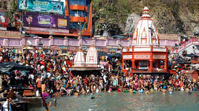 haridwar is full of joy and colors on the eve of  ganga dusshera