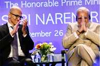 satya nadella has supported digital india