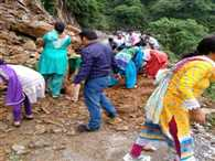 Debris Came on Road, Teachers Removed