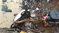 A car  falls into River in Jharkhand, 7 people dead