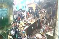 3 storey building collapsed in mumbai rescue operation going on