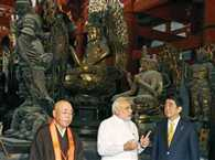 Modi visits Toji temple in Kyoto with mori and japan PM