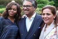 Pak Ambasador insulted for tweeting pic with michelle obama