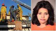 Firefighters rescue stuck burglar from   California chimney
