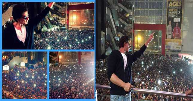 Have you ever seen such craze for Shahrukh Khan?