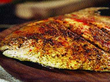 Peprika rubbed fish
