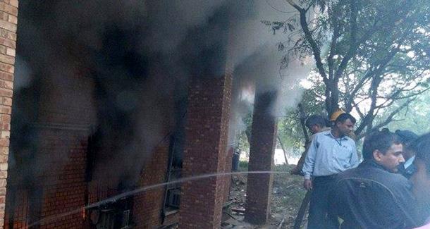 fire at JNU chemistry lab