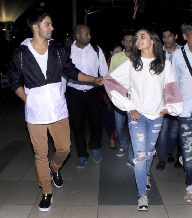 airport pics: वरुण आलिया के अलावा बॉय फ्रेंड के साथ श्रुति हासन और परिणीती चोपड़ा भी आयीं नज़र