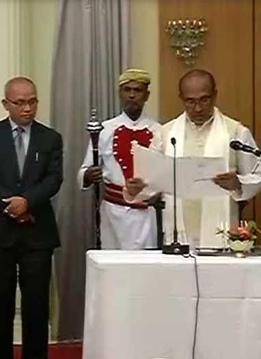 मणिपुर में पहली बार बनी BJP सरकार, एन बिरेन सिंह बने सीएम