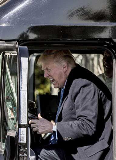 जब ट्रंप ने ट्रक का हॉर्न बजाया