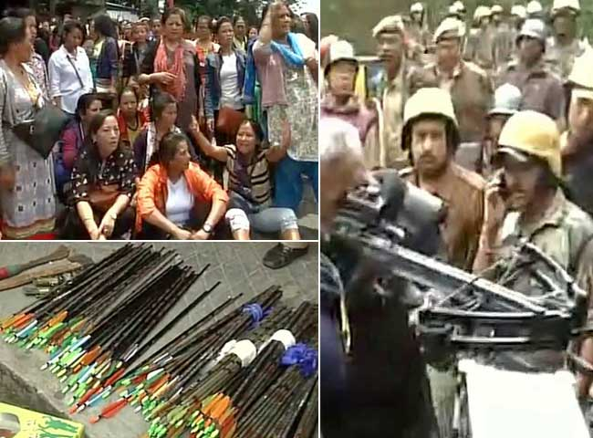 गोरखालैंड आंदोलन: gjm दफ्तर में छापा, भारी मात्रा में हथियार बरामद