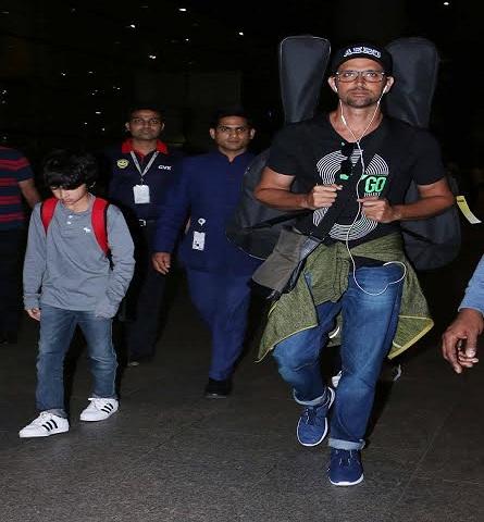 airport pics: बच्चों के साथ रितिक, रणबीर कपूर, जैकलिन, शाहिद कपूर और मलायका का अंदाज़
