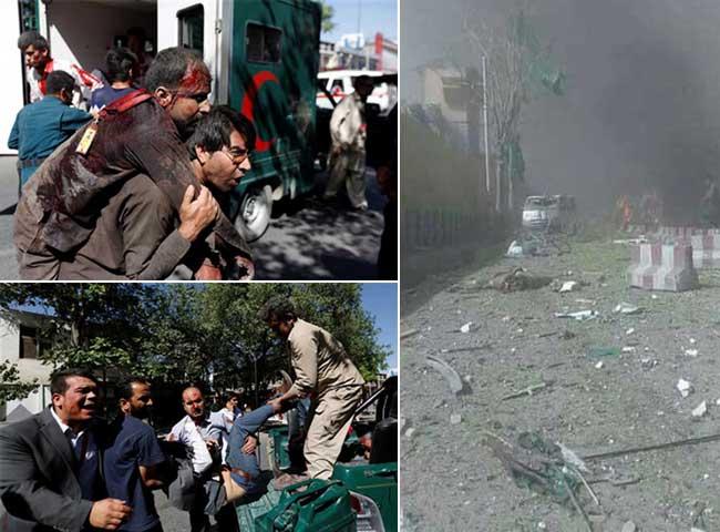 काबुल में भारतीय दूतावास के पास धमाका, देखें तस्वीरें