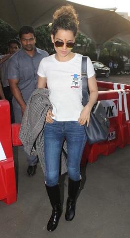 airport pics: कंगना रनौत ही नहीं करीना, दीपिका और डेजी शाह जब आयीं नज़र