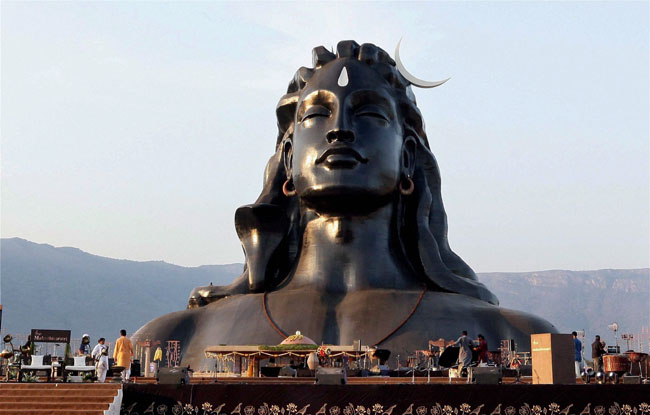 112 फीट ऊंचे शिव मूर्ति का पीएम मोदी ने किया अनावरण